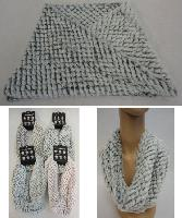 Plush Infinity Scarf [Diamond Pattern]